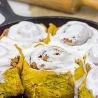 Welcome in Autumn mornings with a batch of these Pumpkin Spice Cinnamon Rolls! They're loaded with cinnamon, spice and everything nice!