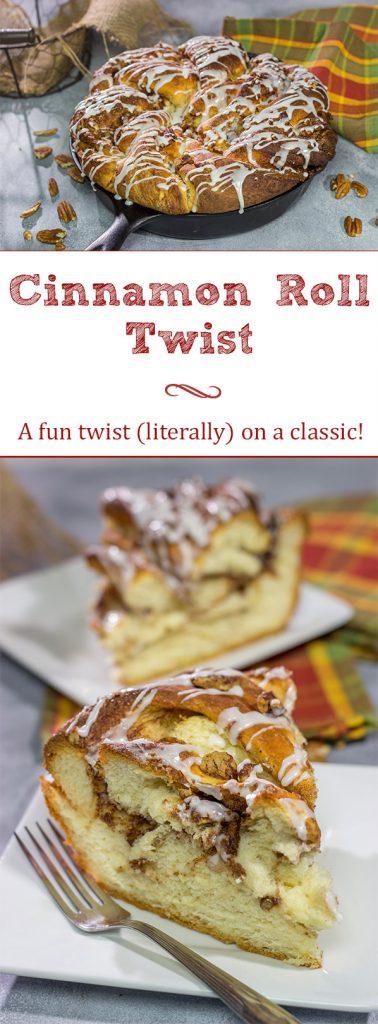 This Cinnamon Roll Twist is a fun twist - literally - a classic breakfast recipe!