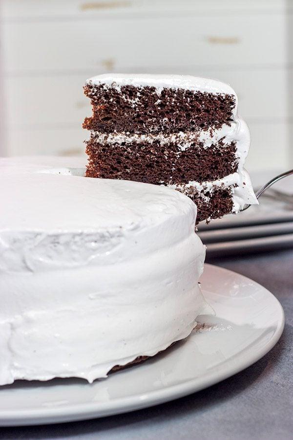 Devil S Food Cake With 7 Minute Frosting Spicedblog Com