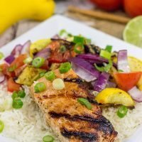 Turn up the dial on the grilled flavor with this Grilled Honey Lime Salmon with Grilled Veggies! This easy recipe is perfect for summer grilling in the backyard!