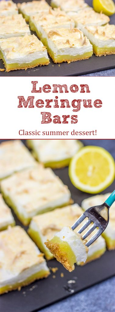 When life gives you lemons...make Lemon Meringue Bars!  These bars are a classic summer dessert.  Grab some lemons and make a batch this weekend!
