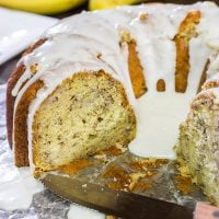 Who wants cake? This moist and tasty Banana Rum Cake features a bit of rum and plenty of ripe bananas...Cheers!