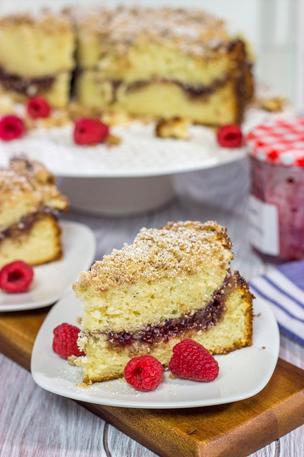 Save the toast and jam for tomorrow! This Raspberry Jam Filled Coffee Cake makes for an excellent breakfast or brunch treat!