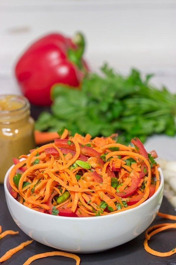 Thai Peanut Carrot Noodles