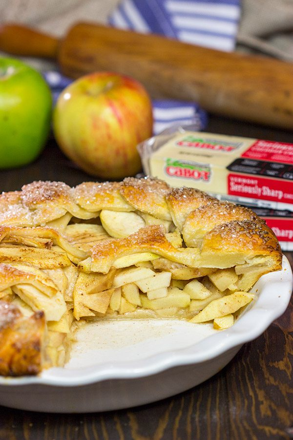 Combining sweet and savory, this Apple Pie with Cheddar Cheese Crust is a unique (and delicious!) dessert for Autumn!