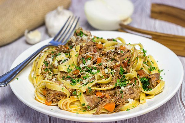 This Beef Short Rib Bolognese is a delicious comfort food meal that's perfect for winter! Requiring just 30 minutes of prep time, this recipe is surprisingly easy, too!