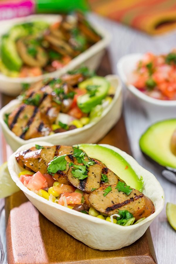 Don't skimp on flavor just because it's a busy weeknight! These Easy Taco Bowls with Mild Mexican Chicken Sausage are ready in just 20 minutes!