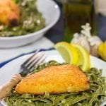 Lemon Pasta with Baked Cod