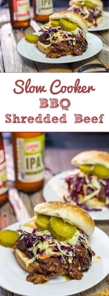 If you're looking to feed a crowd with very little effort, then this Slow Cooker BBQ Shredded Beef is the answer! It's delicious, and it only takes 5 minutes to prepare!