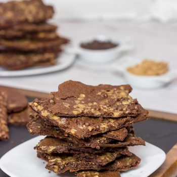 These Chocolate Toffee Brownie Crisps are a cross between a cookie and a brownie...and they're absolutely delicious!
