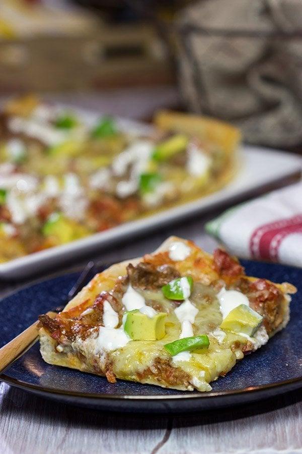 Deep Dish Taco Pizza