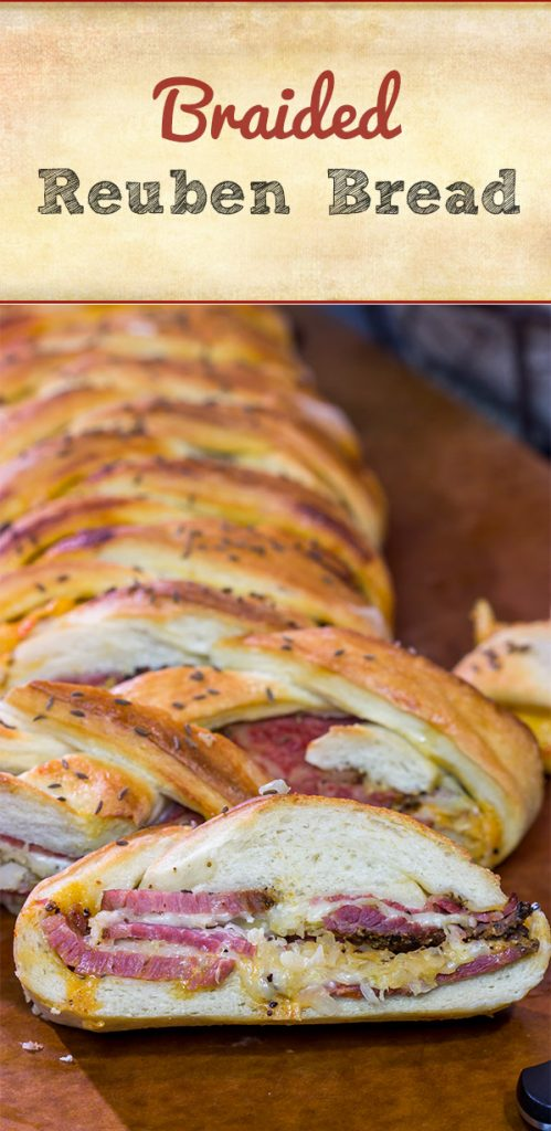Featuring all of the tasty flavors found in a reuben sandwich, this Braided Reuben Bread is a fun twist on a classic American deli sandwich!