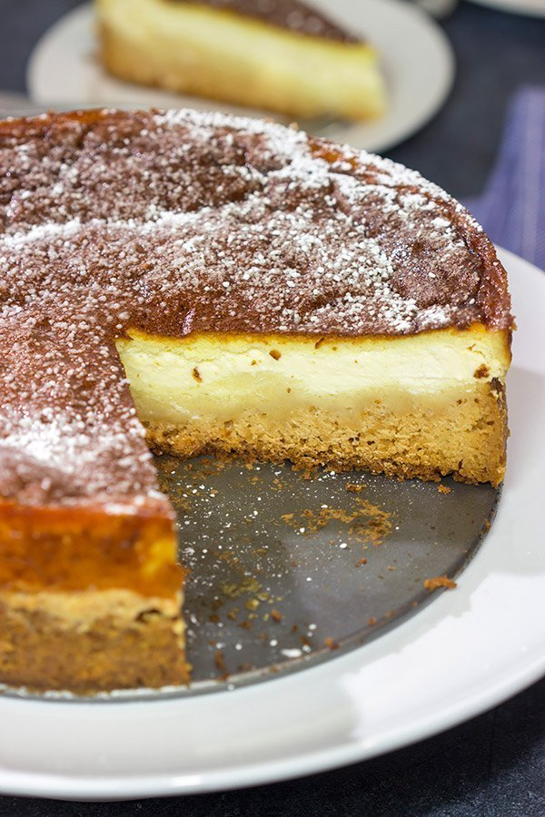 A Dresdner Eierschecke is a traditional Saxon dessert featuring 3 distinct layers.  It's a fun (and unique) dessert!