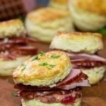 Hatfield Ham Biscuits with Cranberry Mustard
