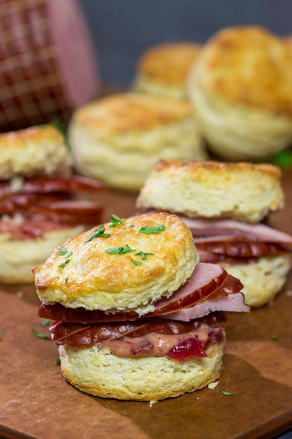 Hatfield Ham Biscuits with Cranberry Mustard