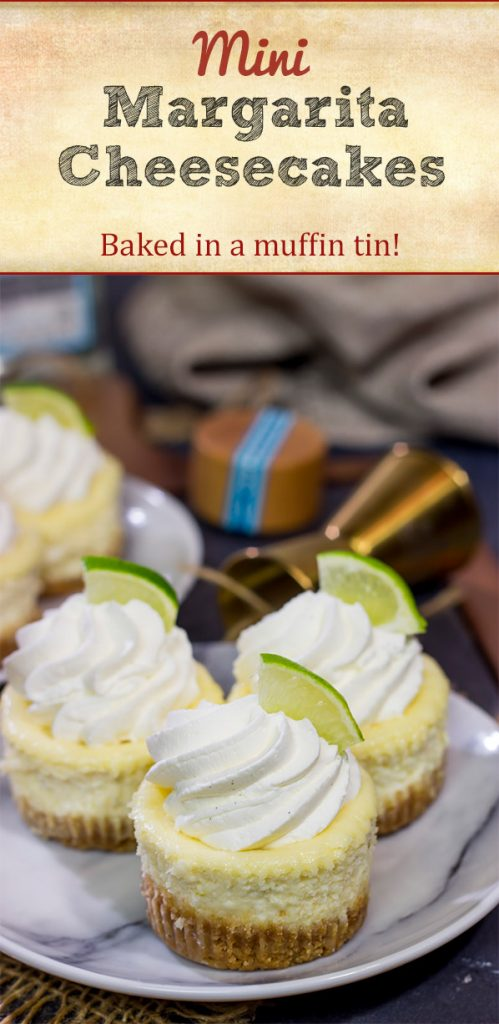 Lookin' for a fun dessert for warm evenings on the back porch? These Mini Margarita Cheesecakes are delicious! Cheers!