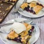 Blueberry Slab Pie with Sugar Cookie Crust