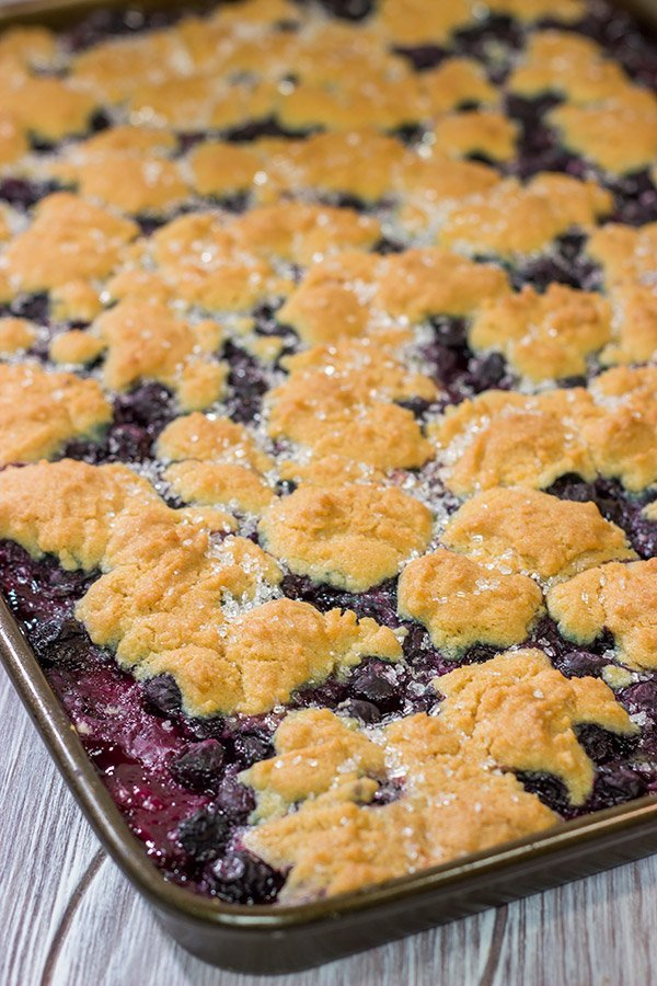 Looking to feed a crowd for a summer picnic? This Blueberry Slab Pie with Sugar Cookie Crust is a tasty answer!