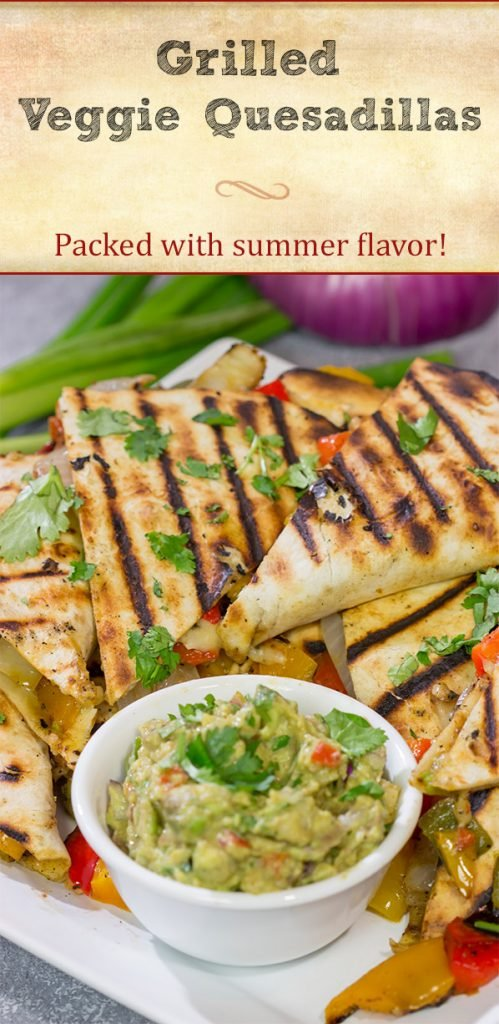 Packed with summer flavor, these Grilled Veggie Quesadillas are a tasty way to enjoy dinner on the grill!
