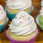 Vanilla Cupcakes with Vanilla Bean Frosting