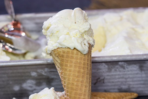 This homemade French Vanilla Ice Cream is packed with vanilla beans for a deep vanilla flavor. Grab a scoop for dessert tonight!