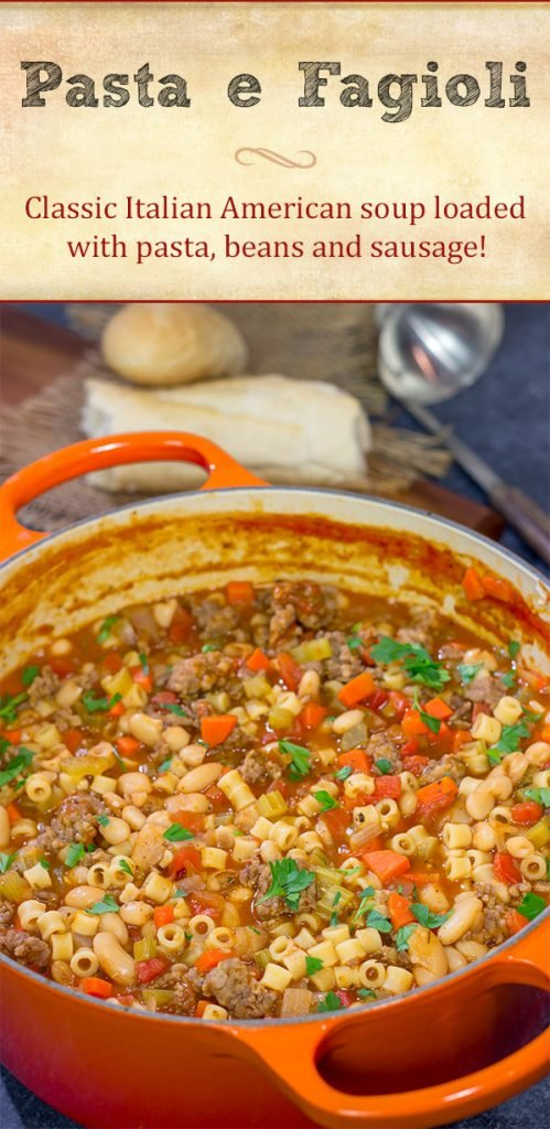 This Italian American version of Pasta e Fagioli is rustic and comforting in the best possible way! It's perfect for chilly Autumn evenings!