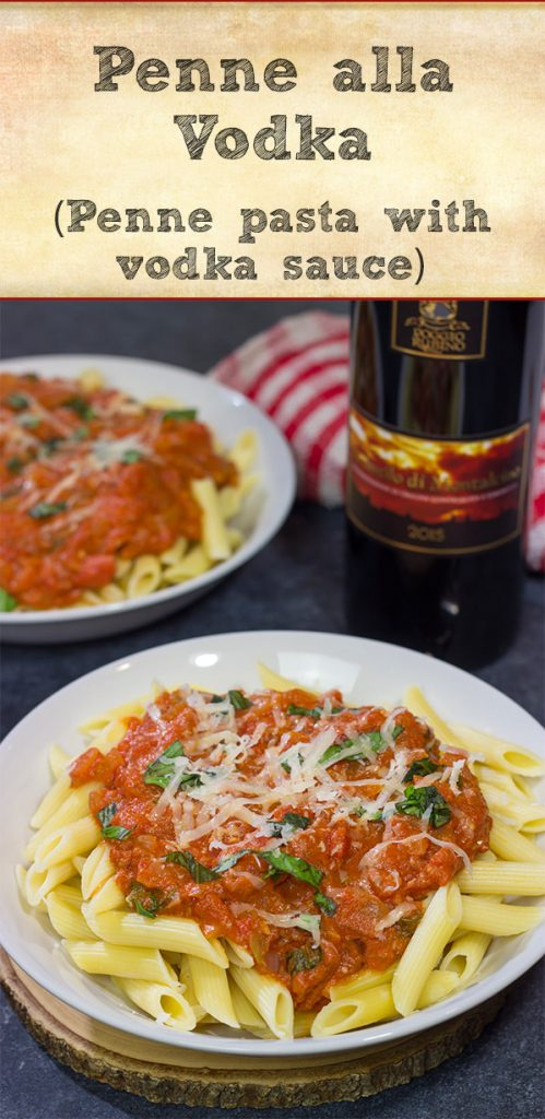 Penne alla Vodka features pasta with an easy, creamy pasta sauce (and, yes, the pasta sauce calls for a bit of vodka)!