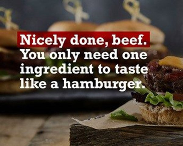 Nicely done, beef!