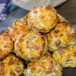 Cheesy Ham Biscuits