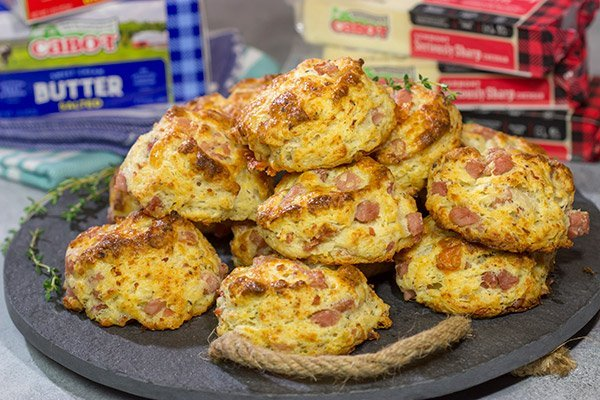 Leftover ham? No problem! These Cheesy Ham Biscuits are studded with chunks of ham and cheese...and they're delicious!
