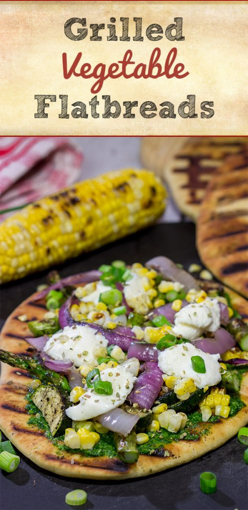 These Grilled Vegetable Flatbreads are a delicious (and easy) summer recipe. Feel free to use whatever veggies are in the garden or on sale!