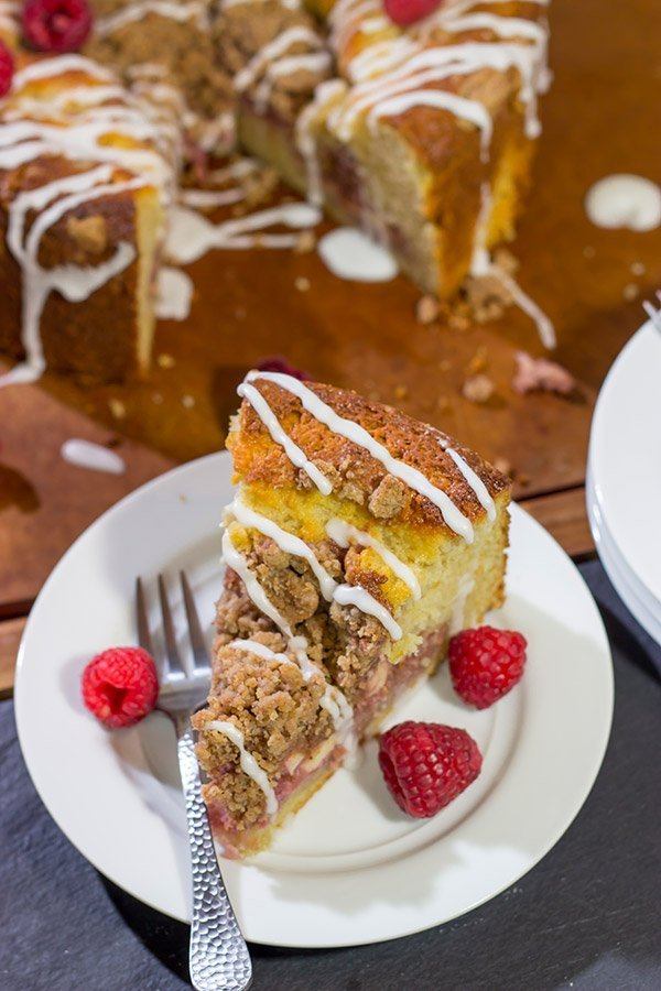 Part danish, part coffee cake, this Raspberry Danish Coffee Cake is a delicious way to enjoy breakfast...or better yet, brunch!