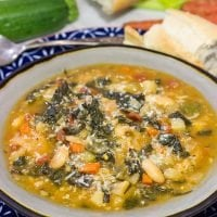 With chilly Winter days around the corner, grab some leftover bread and make a pot of Ribollita. This Tuscan White Bean Stew is a delicious way to warm up on a cold day!