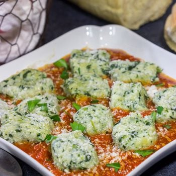 This Spinach Ricotta Gnocchi is an easy and tasty homemade pasta that's ready in just 30 minutes!