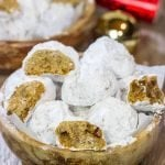 Gingerbread Snowball Cookies