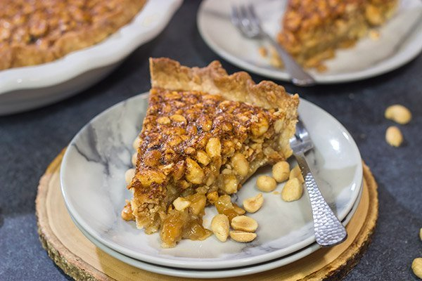 This Virginia Peanut Pie is similar to pecan pie...but with peanuts instead. This delicious sweet and salty dessert will have everyone asking for the recipe!