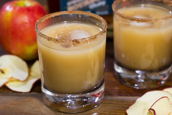 This Caramel Apple Cocktail is packed with the flavor of Autumn.  Tap into your inner bartender and mix one up this weekend!
