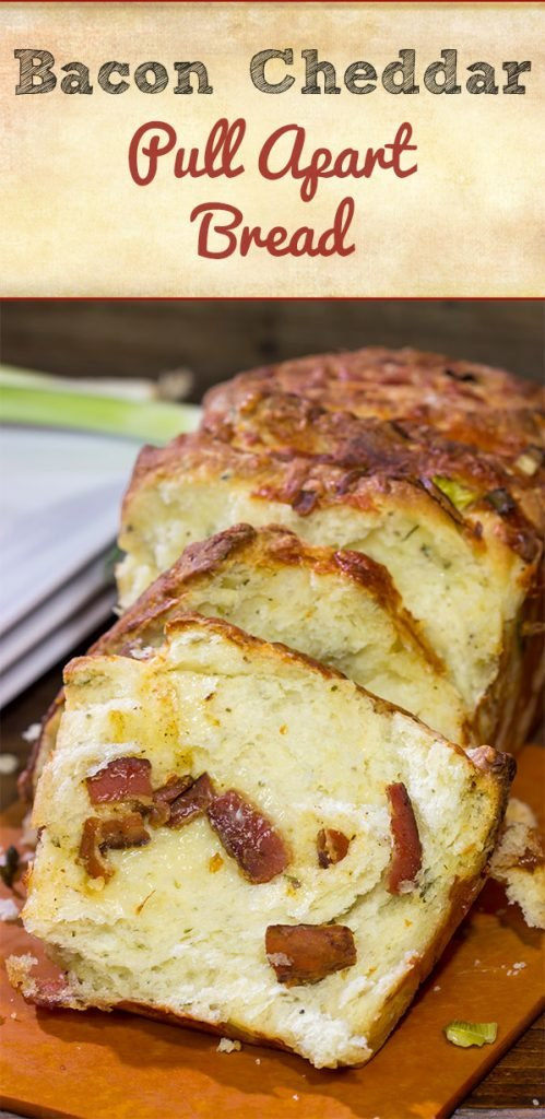 Looking for a fun homemade bread? Try adding crispy bacon and melty cheese! This Bacon Cheddar Pull Apart Bread not only smells great, but it tastes even better!