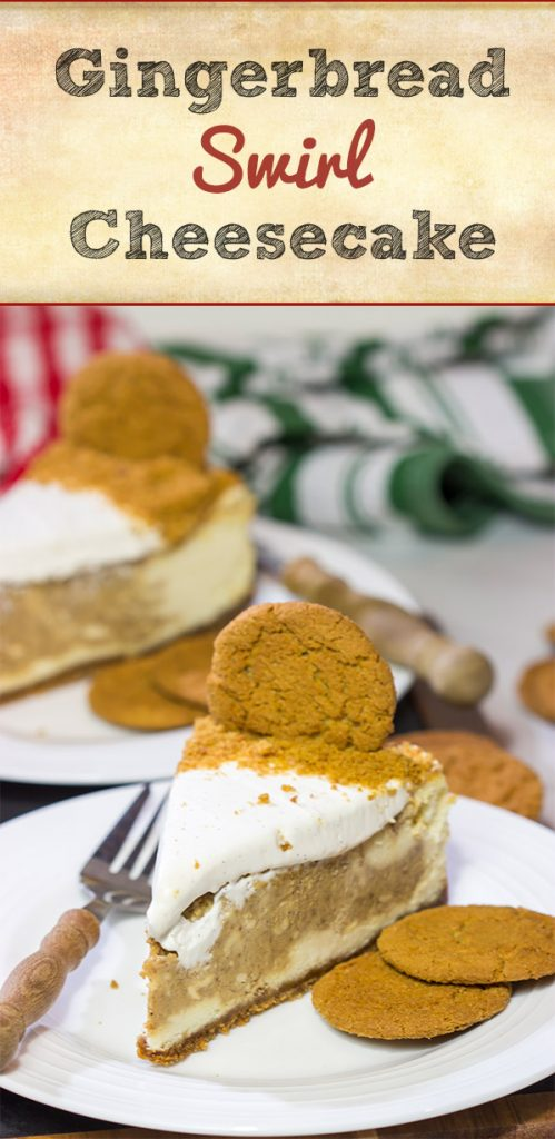 This Gingerbread Swirl Cheesecake is a fun and festive holiday dessert...just make sure to save a slice for Santa!