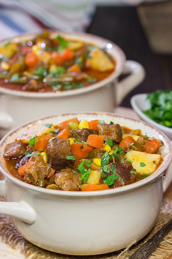 Also known as a community stew, a Mulligan Stew is a tasty way to bring folks together. This beef and potato stew is ideal comfort food on a chilly winter day!