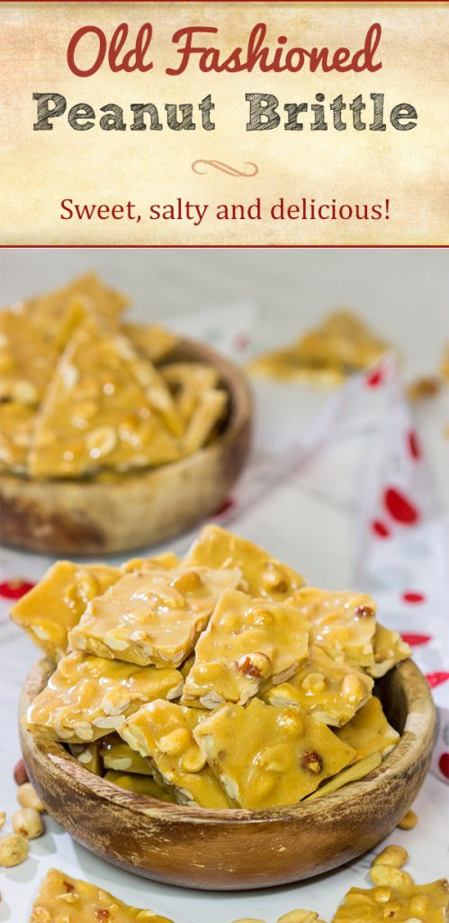 A little bit sweet, a little bit salty, this Old Fashioned Peanut Brittle is a delicious (and rather addicting) treat! It's also surprisingly easy to make!
