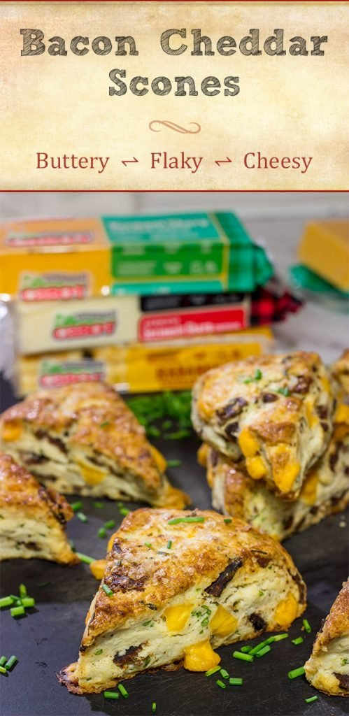 Packed with crispy bacon and melty cheese, these tasty Bacon Cheddar Scones are perfect for either morning brunch or as a side dish along with a bowl of soup!