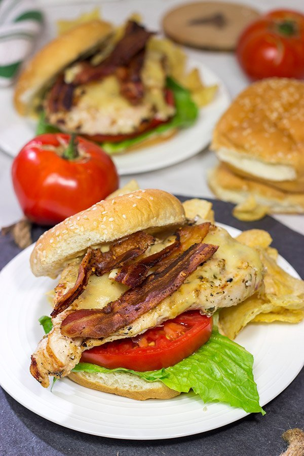 Bacon & Cheese Grilled Chicken Sandwiches