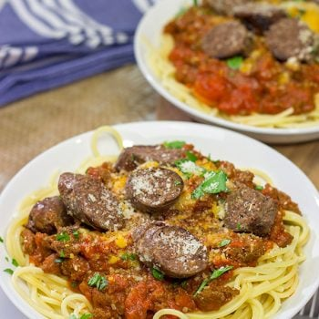 Seasoned with traditional Italian sausage herbs and spices, this Homemade Italian Style Beef Sausage is a fun twist - and it makes for the best meat sauce ever!