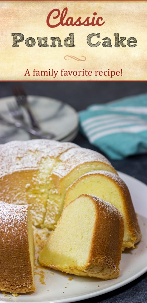 This Classic Pound Cake recipe has been passed through my family for several generations. If you're looking for a tasty slice of pound cake, then whip this recipe up today!
