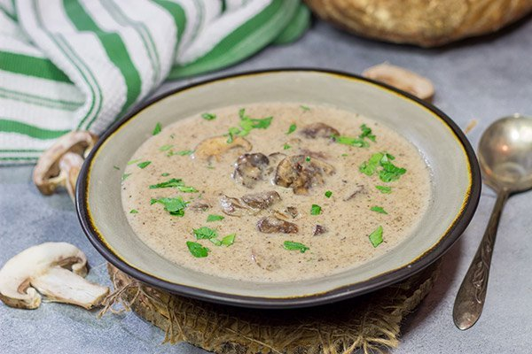 Warm up with a bowl of soup! This Cream of Mushroom Soup is packed with flavor - it's the perfect comfort food for a cold winter day!