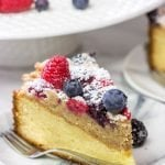 Mixed Berry Topped Coffee Cake