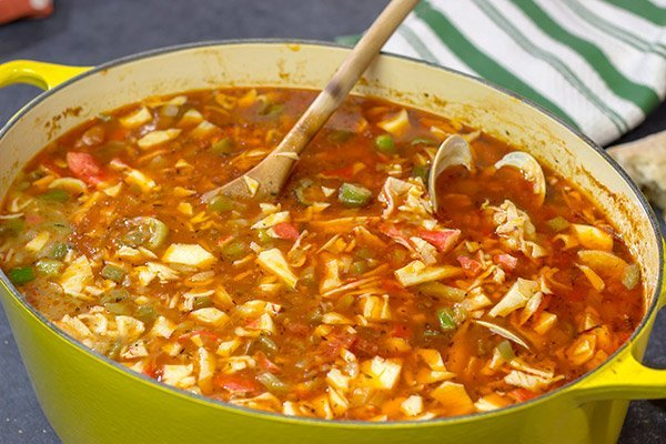 Packed with 3 types of shellfish, a bowl of this Seafood Gumbo is a flavorful way to warm up on a chilly winter day!