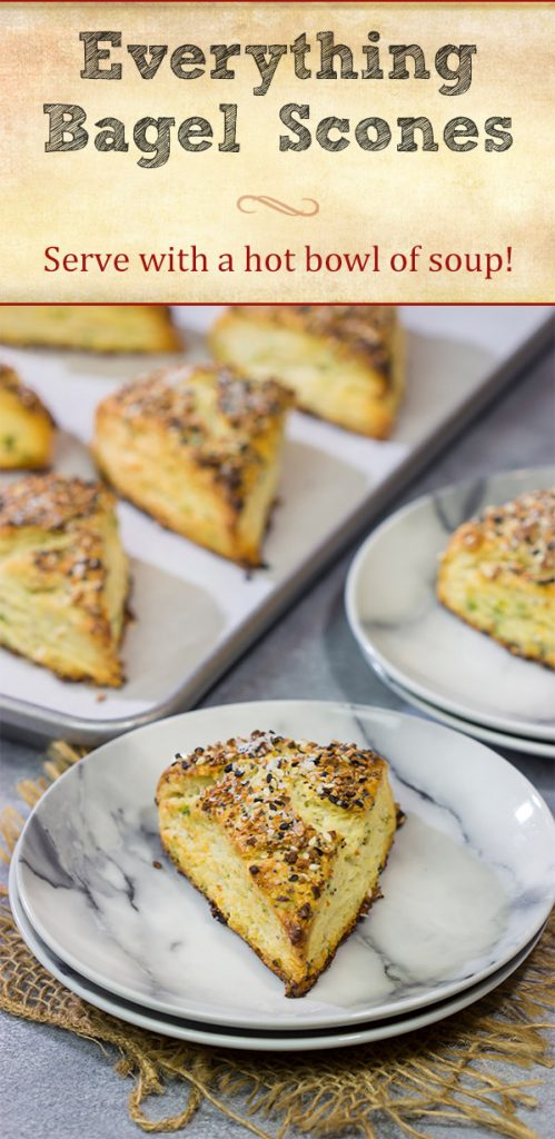 If everything seasoning is good on a bagel, then it's great on these Everything Bagel Scones! Serve for brunch or alongside a hot bowl of tomato soup!