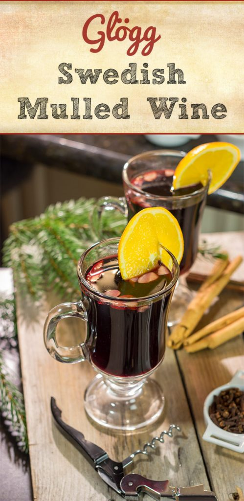 Glögg (Swedish Mulled Wine) is a traditional holiday cocktail made from red wine simmered with spices.  Grab a glass today and raise it to celebrate the season!